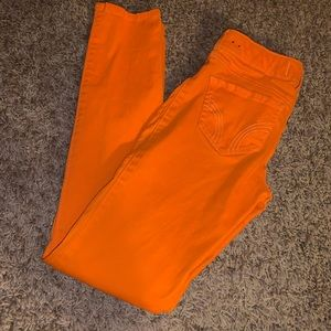 Like New‼️ Hollister Orange Skinny Jeans